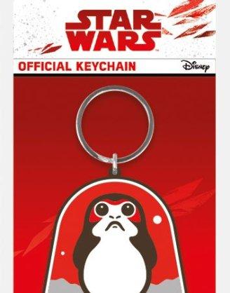 x_rk38744c Star Wars Episode VIII - Porg gumi kulcstartó 6 cm