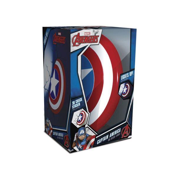 x_3dl49463 Marvel Comics 3D LED hangulatvilágítás -Amerika Kapitány Pajzs /Captain America Shield