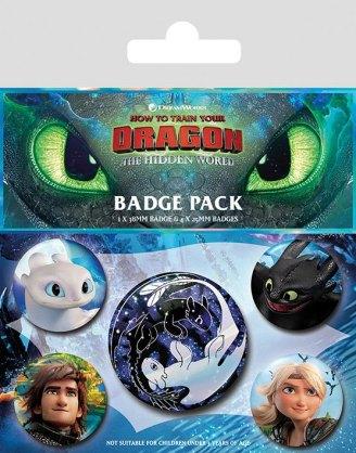 x_bp80652 How to Train Your Dragon 3 kitűző - Familiar Faces