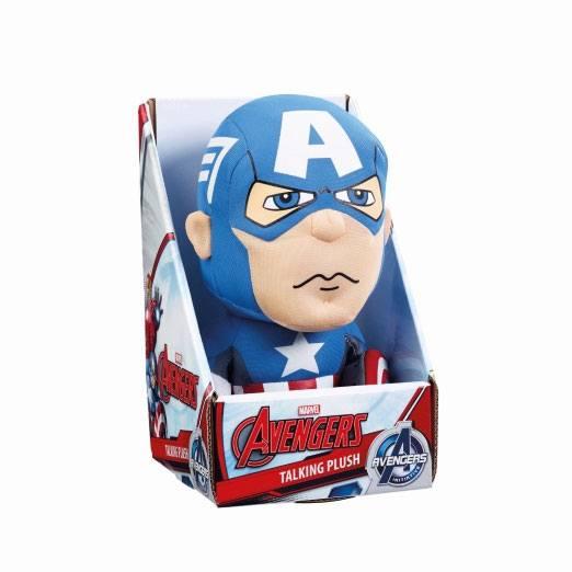 x_ugtavg01836 Marvel Beszélő Plüss figura - Captain America 23 cm *English Version*