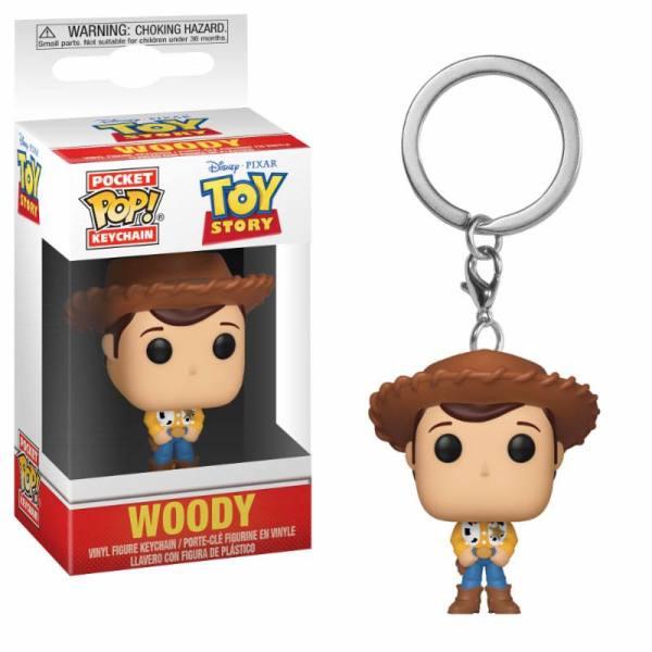x_fk37018 Toy Story Pocket POP! kulcstartó - Woody 4 cm