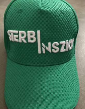 IMG_3198 Sterbinszky - Zöld varrott sapka (kockás)