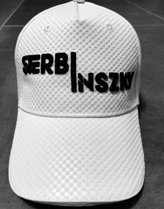 Sterbinszky - Fehér-Fekete varrott sapka (kockás)