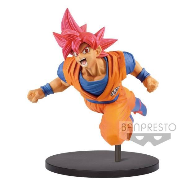 x_banp82980 Dragonball Super Son Goku Fes PVC Szobor - Super Saiyan God Son Goku 20 cm