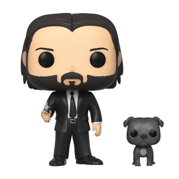 x_fk47238 John Wick Funko POP! figura - John Wick in Black Suit with Dog 9 cm