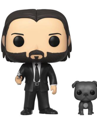 x_fk47238 John Wick Funko POP! figura - John Wick in Black Suit with Dog 9 cm