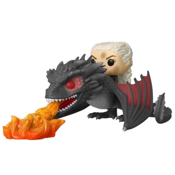 Game of Thrones / Trónok harca Funko POP! Rides Figura - Daenerys on Fiery Drogon 18 cm
