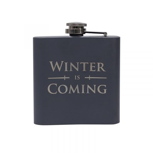 x_hmb-hflkgt12 Game of Thrones Hip Flask Winter is Coming
