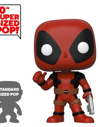 Deadpool Super Sized Funko POP! Figura - Thumb Up Red Deadpool 25 cm
