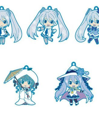Character Vocal Series 01: Hatsune Miku Nendoroid Plus PVC Keychain 5-Pack Vol. 1 6 cm