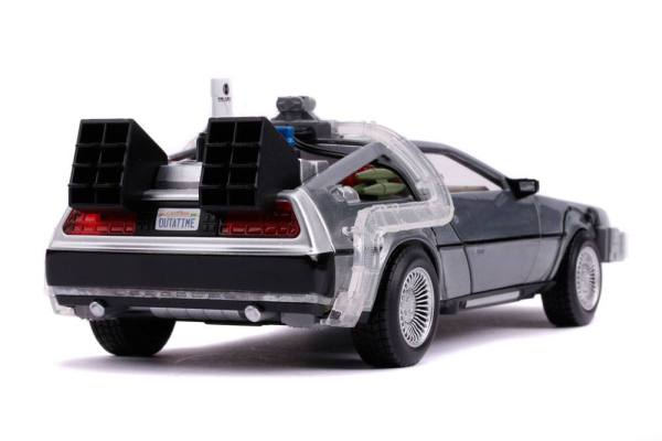 x_jada31468 Back to the Future II Hollywood Rides Diecast Model 1/24 - DeLorean Time Machine