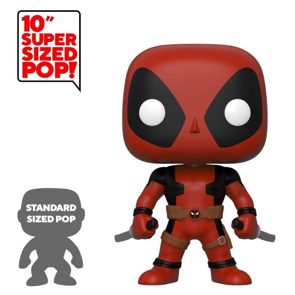 Deadpool Super Sized Funko POP! Figura - Two Sword Red Deadpool 25 cm