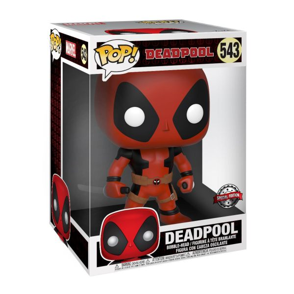 x_fk44726 Deadpool Super Sized Funko POP! Figura - Two Sword Red Deadpool 25 cm