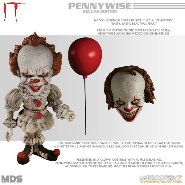 Stephen Kings It 2017 MDS Deluxe Akciófigura - Pennywise 15 cm