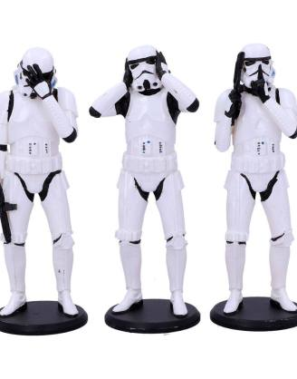 x_nemn-b4889p9 Original Stormtrooper Figura - 3-Pack Three Wise Stormtroopers 14 cm
