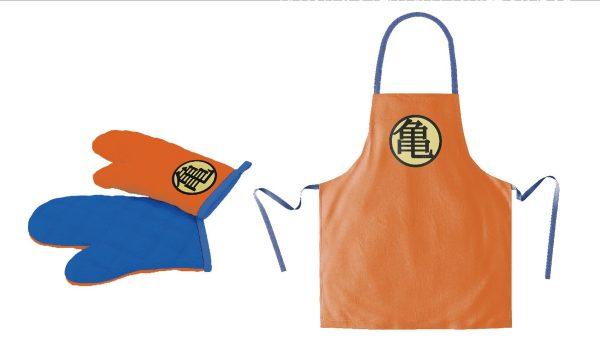 Dragon Ball cooking apron with oven mitt Turtle Symbol (kötény kesztyűvel)
