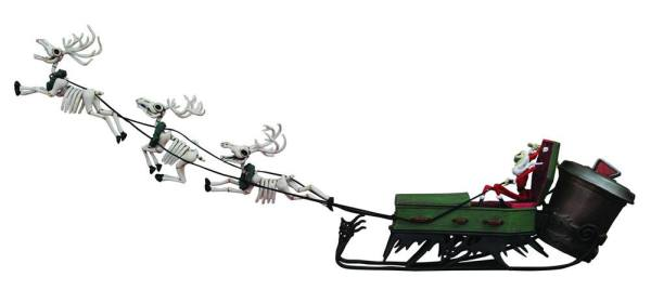 Nightmare before Christmas PVC Set Szobor - Jack and Sleigh