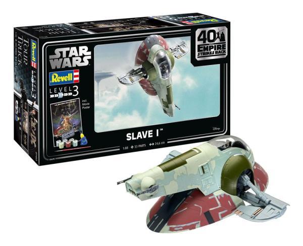 Star Wars Model Kit 1/88 Slave I - 40th Anniversary 34 cm