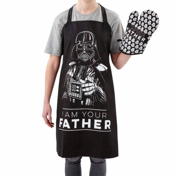 x_fksw06423 Star Wars Fathers Day Apron & Oven Glove Set I Am Your Father (kötény kesztyűvel)
