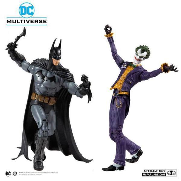 DC Multiverse Action Figure Collector Multipack Arkham Asylum Batman VS Arkham Asylum Joker 18 cm
