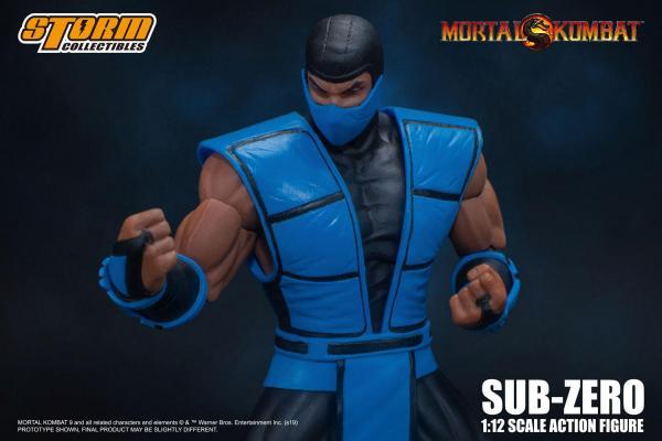 x_storm87135 Mortal Kombat Akciófigura - 1/12 Sub-Zero 16 cm