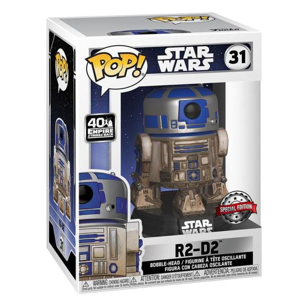 x_fk49810 Star Wars Funko POP! Movies Vinyl Figura - Dagobah R2-D2 9 cm
