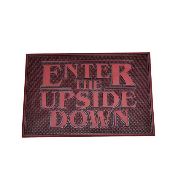 Stranger Things gumi lábtörlő - Upside Down 40 x 60 cm