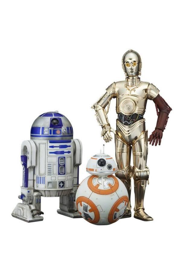 Star Wars Episode VII PVC Szobor 3-Pack 1/10 - C-3PO & R2-D2 & BB-8