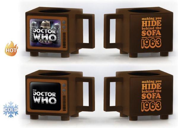 Doctor Who - hőre változós bögre Hide Behind the Sofa