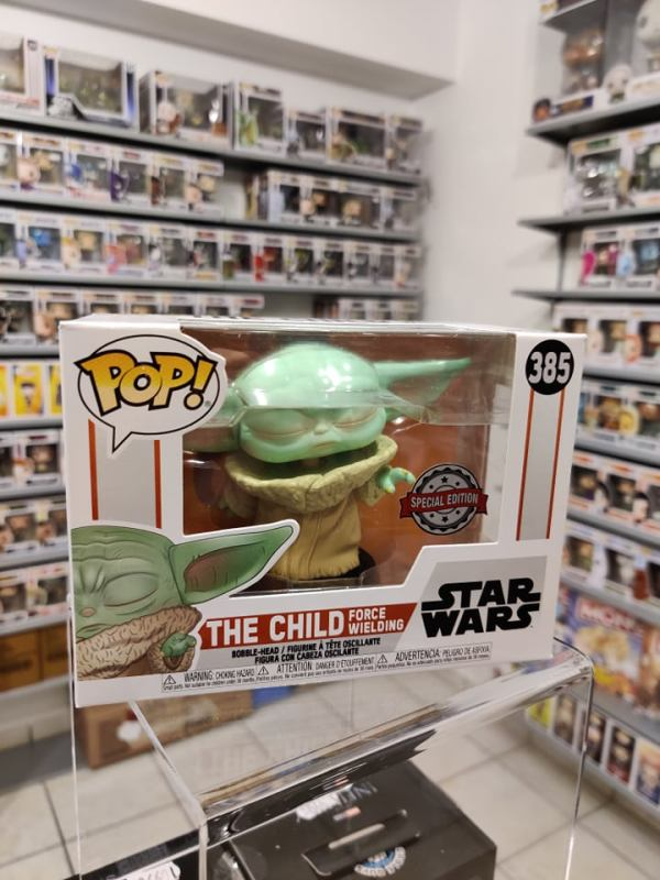 Star Wars: The Mandalorian Funko POP! Figura - The Child Wielding Force (Exclusive)