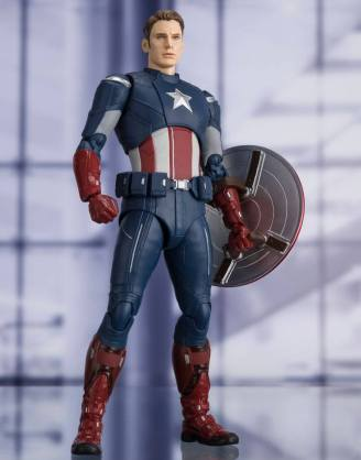 Avengers: Endgame S.H. Figuarts Akciófigura - Captain America Cap VS. Cap Edition 15 cm
