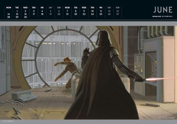 x_dani2021-85621 Star Wars Classic Deluxe A3 Calendar / Naptár 2021 English Version*