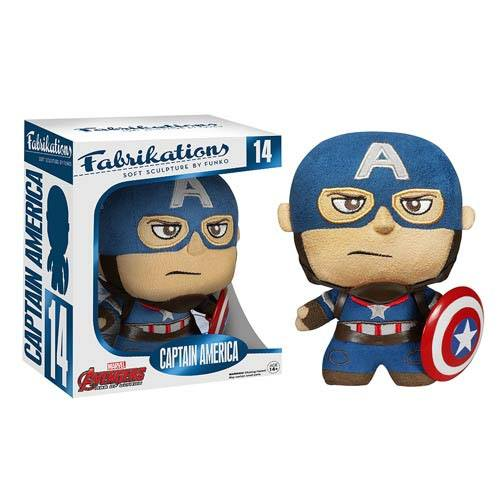 x_fk5076 Avengers Age of Ultron Fabrikations Captain America Plüss figura 15 cm