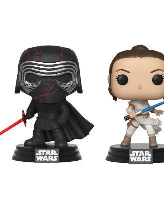 x_fk45035 Star Wars Rise of Skywalker Funko POP! Figura 2-Pack - Kylo & Rey 9 cm