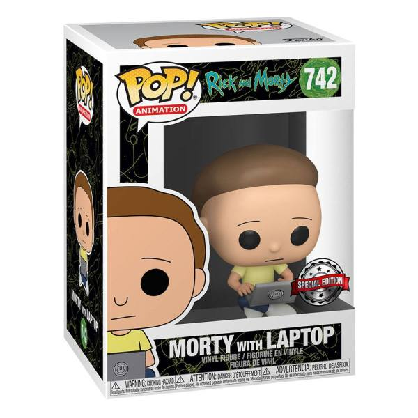x_fk47791 Rick & Morty Funko POP! Animation Vinyl Figura - Morty w/Laptop 9 cm