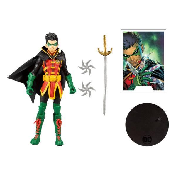 DC Multiverse Action Figure Damian Wayne: As Robin 18 cm - MCF15137-4