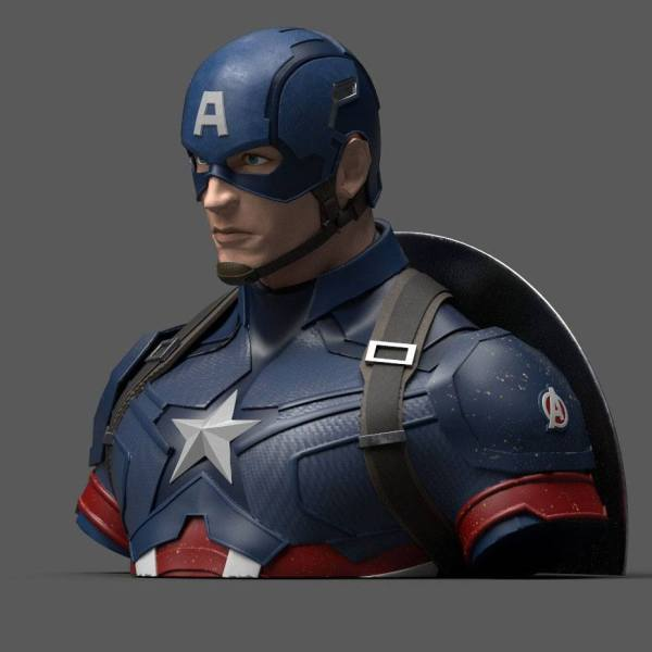 Avengers Endgame Coin Bank / Persely - Captain America 20 cm