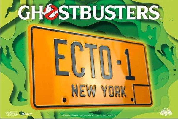 x_doco-95124 Ghostbusters Replica 1/1 ECTO-1 License Plate / Rendszámtábla