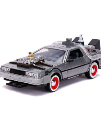 Back to the Future III Hollywood Rides Diecast Model 1/24 DeLorean Time Machine