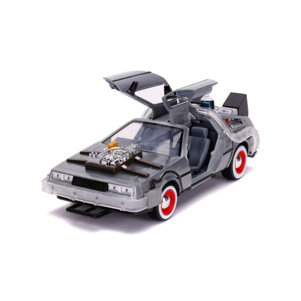 x_jada32166 Back to the Future III Hollywood Rides Diecast Model 1/24 DeLorean Time Machine