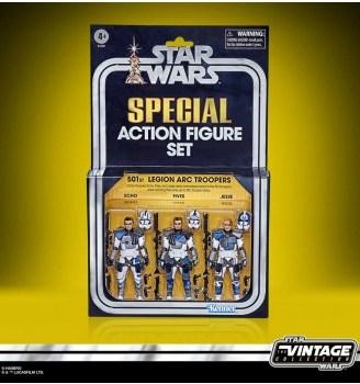 Star Wars The Vintage Collection Akciófigura - The Clone Wars 501st Legion ARC Troopers Exclusive