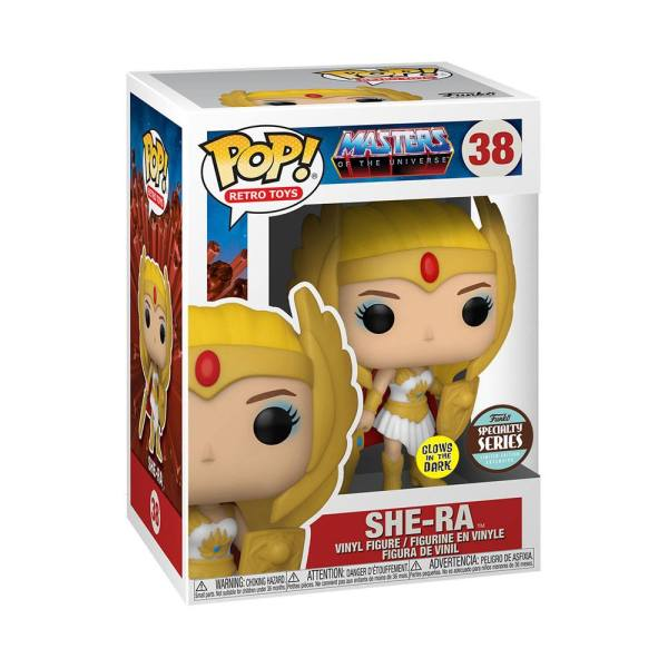 x_fk51438 Masters of the Universe POP! Disney Vinyl Figura Specialty Series Classic She-Ra (Glow) 9 cm