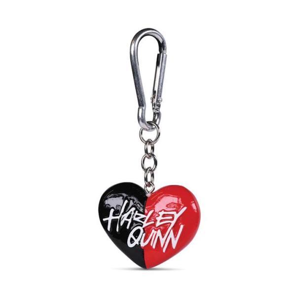 DC Comics 3D-Keychains Harley Quinn Heart 4 cm