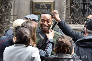 "NEW YORK, NEW YORK - APRIL 02: Actor Chiwetel Ejiofor is seen filming ""Doctor Strange"" on location on April 2, 2016 in New York City. (Photo by Michael Stewart/GC Images)"