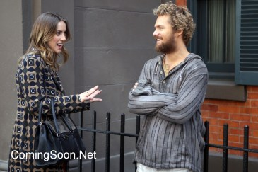 "NEW YORK, NY - APRIL 19: Jessica Stroop, Finn Jones filming Marvel/ Netflix's ""Iron Fist"" on April 19, 2016 in New York City. (Photo bySteve Sands/GC Images)"
