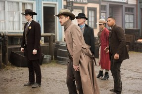 "DC's Legends of Tomorrow -- ""The Magnificent Eight""-- LGN111a_0089.jpg -- Pictured (L-R): Brandon Routh as Ray Palmer/Atom, Arthur Darvill as Rip Hunter, Victor Garber as Professor Martin Stein, Ciara Renee as Kendra Saunders/Hawkgirl and Franz Drameh as Jefferson ""Jax"" Jackson -- Photo: Dean Buscher/The CW -- © 2016 The CW Network, LLC. All Rights Reserved"