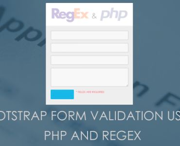 Form Validation Using PHP And RegEx