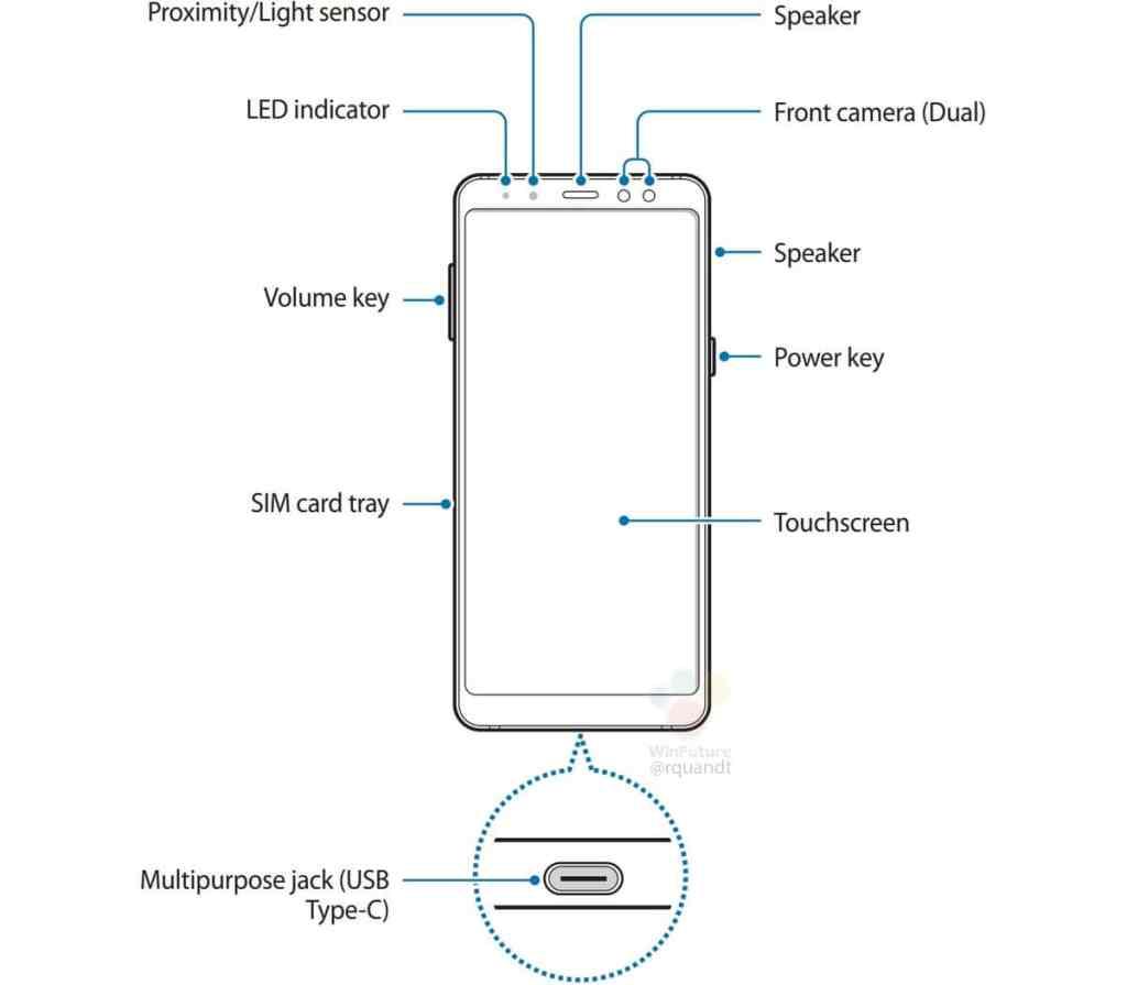 Samsung Galaxy A8 2018 Rumor Leak Manual Front