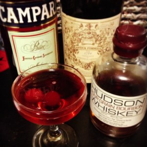 Campari Bourbon cocktail