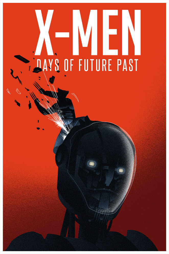 X-Men Days of future Past minimal poster
